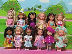 Kelly & Friend Party Girls (Blue_Winks) Tags: friends party easter doll barbie shelly kelly mattel
