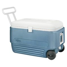Pin it! :) Follow us :)) CLICK IMAGE TWICE for Pricing and Info :) SEE A LARGER SELECTION of camping coolers at   -  hunting, camping accessories, camping insulated bags, coolers, camping gear, camp supplies - Igloo MaxCold 60 Roller Cooler (60-Quart, Icy Blue) « zCamping.com