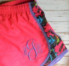 Monogrammed+Running+Shorts+Monogram+Shorts+by+PoshPrincessBows1,+$33.99