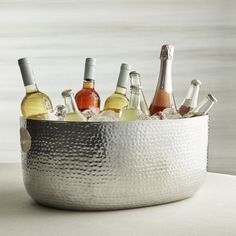 Bash Silver Beverage Tub - Crate and Barrel