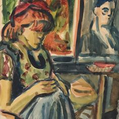 At home by Miklós Németh the famous hungarian expressionist around 1960 Expressionism, Hungary, Nice, Instagram Posts, Painting, Art, Art Background, Painting Art, Kunst