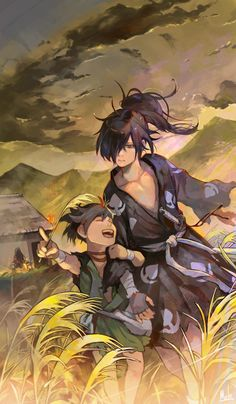 Dororo - Melody Anime Couples Manga, Anime Manga, Anime Art, Wallpaper Animes, Animes Wallpapers, Manhwa, Anime Group, Slayer Anime, Manga Drawing