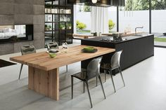 Contemporary Kitchen Design view in gallery exquisite modern kitchen design from arrital VNTPPXO - Kitchen Ideas Home Decor Kitchen, Interior Design Kitchen, New Kitchen, Kitchen Designs, Kitchen Wood, Kitchen Ideas, Kitchen Modern, Kitchen Cabinets, Kitchen Small