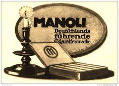 Original-Werbung/Inserat/ Anzeige 1914 - MANOLI CIGARETTEN - ca. 210 x 160 mm