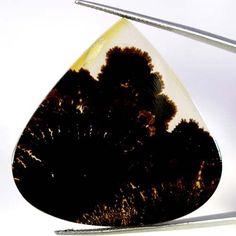 42.80Cts Natural Designer Dendrite Quartz Defined Heart Cabochon Loose Gemstones #Handmade