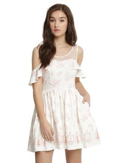 084a1457669 Disney Beauty And The Beast Icons Cold Shoulder Dress