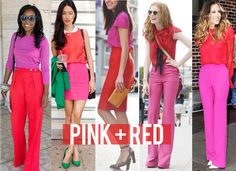 pink & red. bold but awesome.