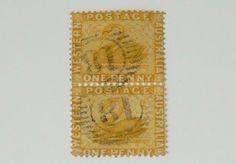 Stamp Pickers Western Australia 1872-78 Swan Pair 1d Scott #36 VFU $30+