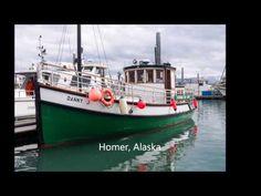 Homer, Alaska – Miljoonan dollarin maisemat ja Halibut Cove | Ison veen rannalla Homer Alaska, Halibut, Coven