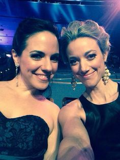 Anna Silk and Zoie Palmer at the Canadian Screen 14 Awards 2014