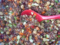 Quinoa & Chick Pea Salad with Dried Cranberries