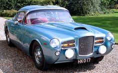 Facel Vega HK 500, 1960, by Zagato?. A one-off version of the HK 500 which some sources credit to Zagato (that's NOT a Zagato Z on the truck lid) though I can't find any reference to it on a database...