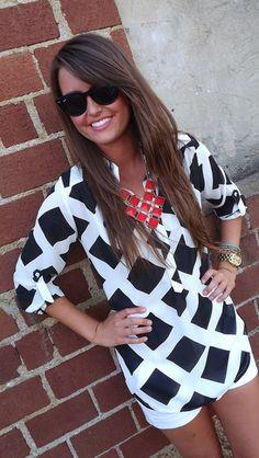 Checkered Pattern Tunic