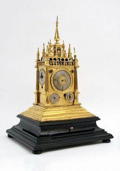 Rare Renaissance astronomical clock 17th century - by Galerie Ustar