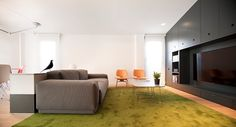 Apartments. Gorgeous Apartment Interior In Minimalist Style Design: Awesome Apartment Living Room Interior Modern Duplex Design With Minimalist Style And Large Flat Tv Screen Ideas ~ wegli