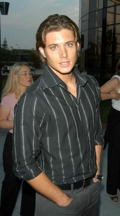 There are a lot of younger pictures of Jensen I don't like but this one is kinda wow...