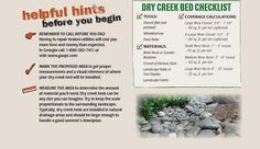 DIY Dry Creek Bed | If you would like additional help please see one of our knowledgeable ...