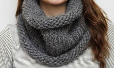 apprendre a tricoter snood