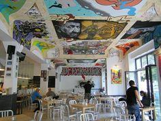 Streetart & Pizza - Eckstuck restaurant Wranglerstrasse 20,Kreuzberg