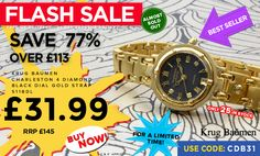 Massive savings on this Krug Baumen watch. Only 25 left in stock!!