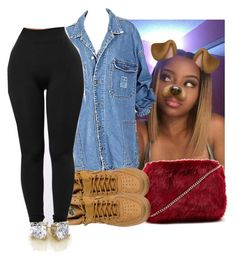 """"" by eazybreezy305 on Polyvore featuring Forever 21, NIKE, cute, SimpleOutfits, schoolflow and 2016"