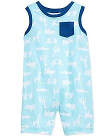 First Impressions Baby Boys' Animal-Print Sunsuit, Only at Macy's