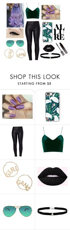 """""""Joker"""" by vickysanti ❤ liked on Polyvore featuring Casetify, Venus, BP., Anatomy Of, Ray-Ban, Amanda Rose Collection, Serge Lutens, purple, GREEN and Dark"""