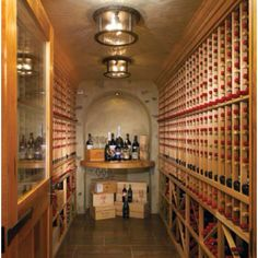 I want a fine wine collection. What a luxury! Dream Home Design, My Dream Home, House Design, Home Wine Cellars, Wine Collection, Cozy Nook, At Home Gym, Fine Wine, Glass Panels