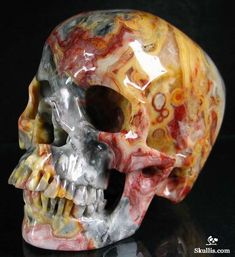 Crazy Lace Agate Crystal Skull...I WANT this