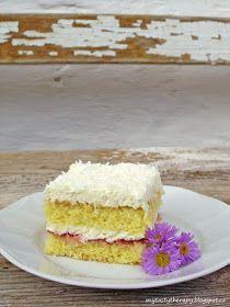 kokosové řezy Desert Recipes, Vanilla Cake, Deserts, Food, Essen, Postres, Dessert Recipes, Meals, Dessert