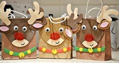 Ups & Downs, Smiles & Frowns: Making Reindeer Gift Bags {Review}