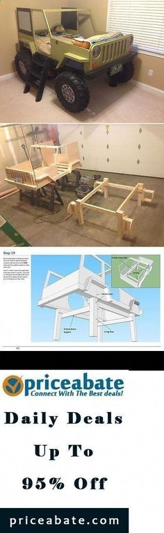 Woodworking Projects For Kids Plans of Woodworking Diy Projects - Plans of Woodworking Diy Projects - Wood Profits - JUST UPDATED: Jeep kids bed Kids Woodworking Projects, Diy Projects Plans, Wood Projects For Kids, Woodworking Shows, Woodworking Plans, Project Ideas, Woodworking Furniture, Carpentry Projects, Woodworking Chisels