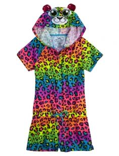 Cheetah Pajama Romper - Jumpsuits and Romper Girls Sleepwear, Girls Pajamas, Justice Pajamas, Kids Outfits, Cool Outfits, Cute Pjs, Shop Justice, Justice Clothing, Pajama Romper