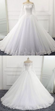 Off The Shoulder Wedding Dresses Ball Gowns Long Sleeves 2018 Vintage Bridal Gow. - Off The Shoulder Wedding Dresses Ball Gowns Long Sleeves 2018 Vintage Bridal Gowns Source by - Long Sleeve Wedding, Wedding Dress Sleeves, Long Wedding Dresses, Bridal Dresses, Winter Wedding Dress Ballgown, Disney Inspired Wedding Dresses, Queen Wedding Dress, Beautiful Wedding Gowns, Princess Wedding