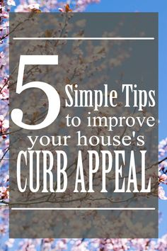 5 tips for improving your house's curb appeal and ideas to decorate the front porch or stoop. From seasonal decor to maintenance, the exterior of your home says a lot about the occupants. This spring is a great time to get started on those simple projects to improve your home's curb appeal.