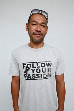 Follow Your Passion men classic organic tshirt by FYPmovement, $49.95