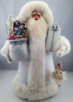 White Christmas Santa - pinned by pin4etsy.com