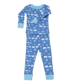Take a look at this Blue Polar Bear Organic Pajama Set - Infant, Toddler & Kids by New Jammies on #zulily today!