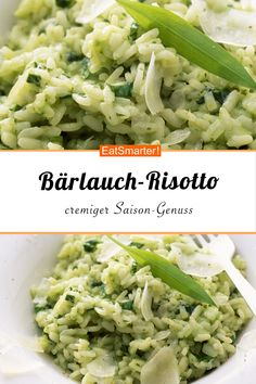 B rlauch-Risotto - smarter - Kalorien 326 kcal - Zeit 50 Min Easy Dinner Recipes, Healthy Dinner Recipes, Vegetarian Recipes, Easy Meals, Cooking Recipes, Crockpot Recipes, Dessert Recipes, Lunch Recipes, Cake Recipes