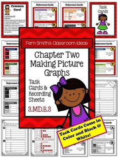 50% OFF For the First Two Days! Making Picture Graphs Task Cards and Recording Sheet for 3.MD.B.3 {An additional Go Math resource for 3rd grade, Chapter 2.} #TPT $Paid