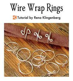 Wire Wrap Rings Tutorial by Rena Klingenberg