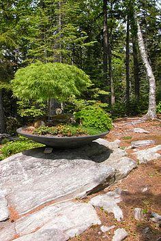 Sculpture at the Coastal Maine Botanical Gardens