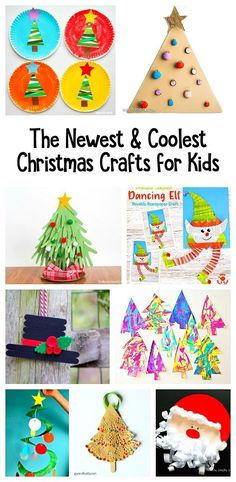 12 of the Newest and Coolest Christmas Crafts for Kids: Freshen up your Christmas project collection for children with these all new and super unique Christmas art activities for kids! You'll find paper plate Santas, paper Santas, adorable homemade Christmas ornaments and more!