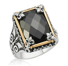 sterling  silver 925  men ring ,Cut Zircon Sterling Silver Ring