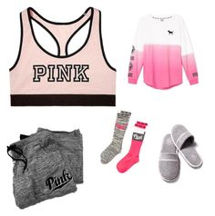 """Lazy day"" by brookiea on Polyvore featuring Victoria's Secret"