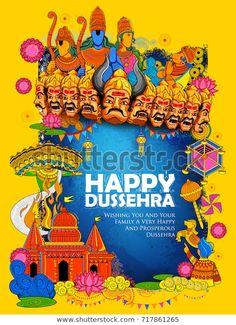 Festivals Of India, Indian Festivals, Happy Dussehra Wallpapers, Happy Dussehra Wishes, Ganesha Drawing, India Poster, Navratri Festival, Drawing Competition, Republic Day India