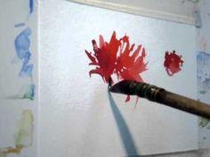 Técnicas de aquarela - flores