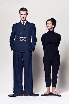 Matt and Jenna |Doctor Who, as Frank and Audrey (Funny Face)