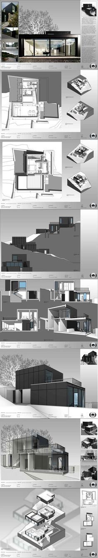 BIM (Building Information Modeling): Sample Presentation Revit Architecture, Architecture Graphics, Architecture Board, Architecture Portfolio, Architecture Presentation Board, Presentation Design, Presentation Boards, Architectural Presentation, Planer Layout