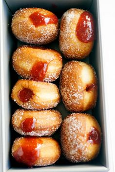 Homemade Strawberry Rhubarb Jelly Doughnuts Recipe